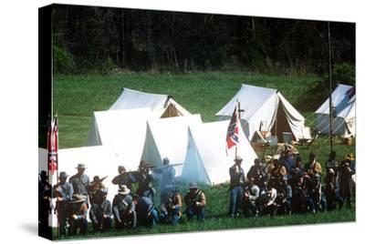 Civil War Reenactment, Tipton Haynes Farm, Johnson City, Tennessee--Stretched Canvas Print