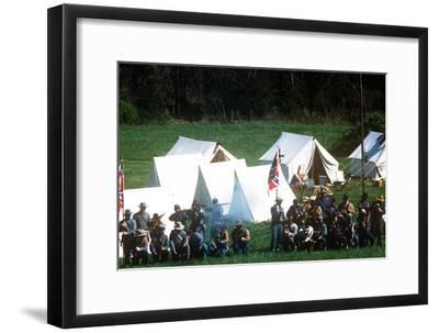 Civil War Reenactment, Tipton Haynes Farm, Johnson City, Tennessee--Framed Photographic Print