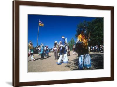 Dance of Los Matachines, El Rancho De Las Golondrinas, New Mexico--Framed Photographic Print