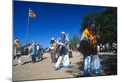 Dance of Los Matachines, El Rancho De Las Golondrinas, New Mexico--Mounted Photographic Print