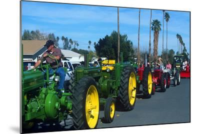 Tractors in Parade, Carrot & BBQ Cook-Off, Holtville, California--Mounted Photographic Print
