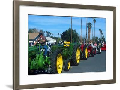 Tractors in Parade, Carrot & BBQ Cook-Off, Holtville, California--Framed Photographic Print