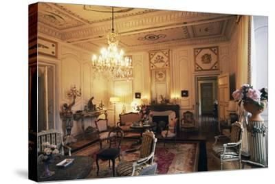 Room in Chateau of Filain, Franche-Comte, France--Stretched Canvas Print