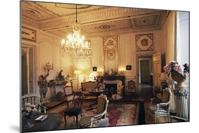 Room in Chateau of Filain, Franche-Comte, France--Mounted Photographic Print