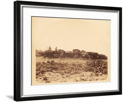 The Long Unfinished Platform on Easter Island--Framed Photographic Print