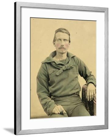Portrait of a Sailor in Union Uniform, C.1861--Framed Photographic Print