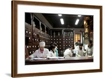 Old Drugstore in Zhongshan Lu, Hangzhou, China--Framed Photographic Print