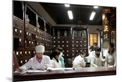 Old Drugstore in Zhongshan Lu, Hangzhou, China--Mounted Photographic Print