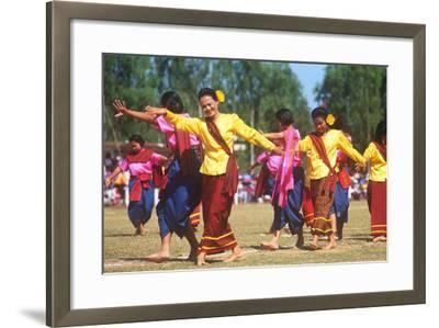 Procession, Elephant Round-Up, Surin, Thailand--Framed Photographic Print