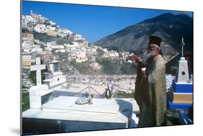 Easter Celebration, Olymbos, Karpathos, Greece--Mounted Photographic Print