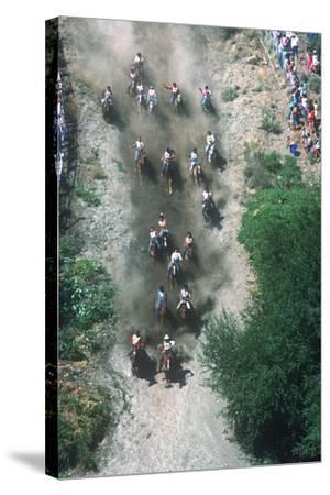 Horse Race, Omak Stampede Celebration, Omak, Washington--Stretched Canvas Print
