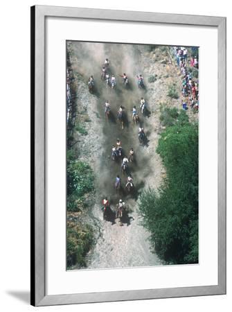Horse Race, Omak Stampede Celebration, Omak, Washington--Framed Photographic Print