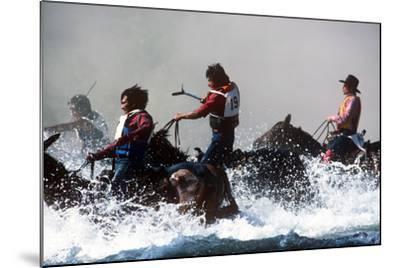 Horse Race, Omak Stampede Celebration, Omak, Washington--Mounted Photographic Print