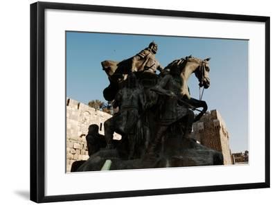 Saladin Memorial, Entrance to Citadel, Damascus, Syria--Framed Photographic Print
