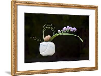 Ikebana, the Art of Flower Arrangement--Framed Photographic Print