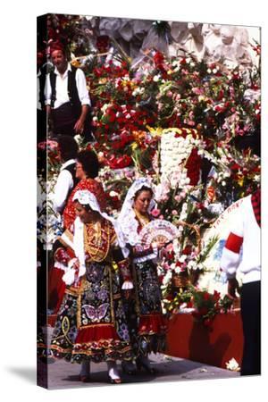 Pilar Celebration, Zaragoza, Aragon, Spain--Stretched Canvas Print
