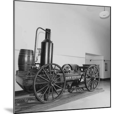 The 1825 'John Stevens' Locomotive Replica--Mounted Photographic Print