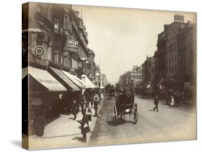 Oxford Street, London, C.1885--Stretched Canvas Print
