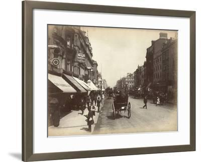 Oxford Street, London, C.1885--Framed Photographic Print