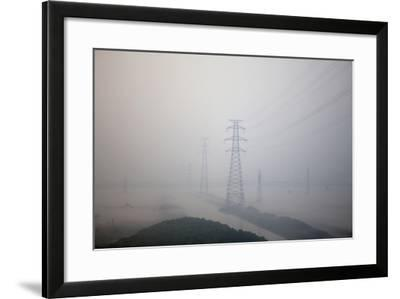 In Train Approaching Shanghai, China--Framed Photographic Print