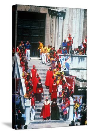 Race of the 3 Ceri, Gubbio, Umbria, Italy--Stretched Canvas Print