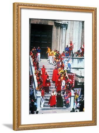 Race of the 3 Ceri, Gubbio, Umbria, Italy--Framed Photographic Print