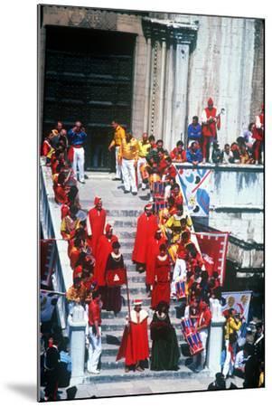 Race of the 3 Ceri, Gubbio, Umbria, Italy--Mounted Photographic Print