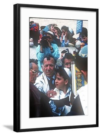 Bar Mitzvah, Wailing Wail, Jerusalem, Israel--Framed Photographic Print
