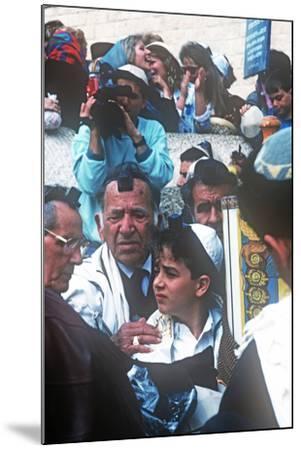 Bar Mitzvah, Wailing Wail, Jerusalem, Israel--Mounted Photographic Print