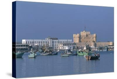 The Port of Alexandria, Egypt--Stretched Canvas Print