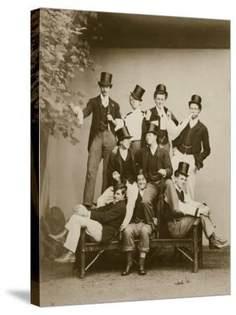 Group Portrait of Young Men--Stretched Canvas Print