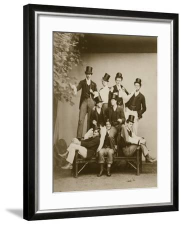 Group Portrait of Young Men--Framed Photographic Print