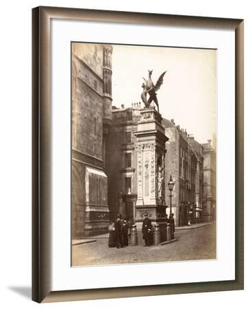 Temple Bar, London, C.1885--Framed Photographic Print