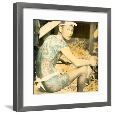 Tattooed Man, C.1880--Framed Photographic Print