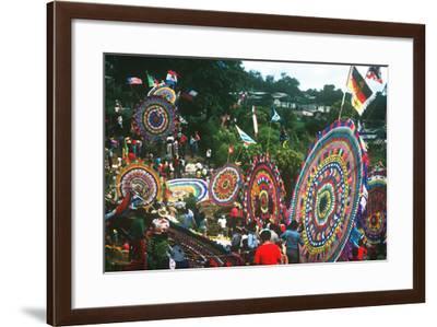 Giant Kite Festival, All Souls All Saints Day, Guatemala--Framed Photographic Print