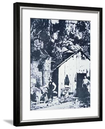 Prospectors at Clear Creek, Near Shasta, California, C.1849--Framed Photographic Print