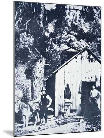 Prospectors at Clear Creek, Near Shasta, California, C.1849--Mounted Photographic Print