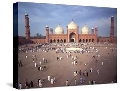 Eid Ul Fitr Celebration, Badshahi Mosque, Lahore, Pakistan--Stretched Canvas Print