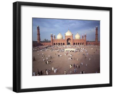 Eid Ul Fitr Celebration, Badshahi Mosque, Lahore, Pakistan--Framed Photographic Print