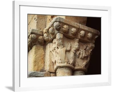 Romanesque Capital, Shrine of Saint Christopher, Spain--Framed Photographic Print
