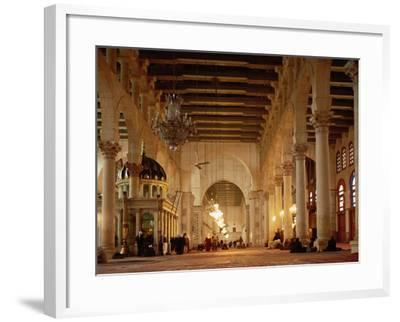 Syria, Great Mosque of Damascus, Interior--Framed Photographic Print