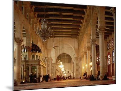 Syria, Great Mosque of Damascus, Interior--Mounted Photographic Print