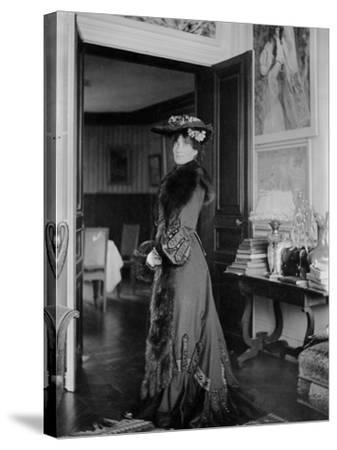 Portrait of Jeanne Pontillon--Stretched Canvas Print