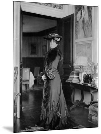 Portrait of Jeanne Pontillon--Mounted Photographic Print