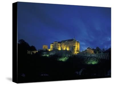 Cesky Sternberk Castle at Night, Czech Republic--Stretched Canvas Print