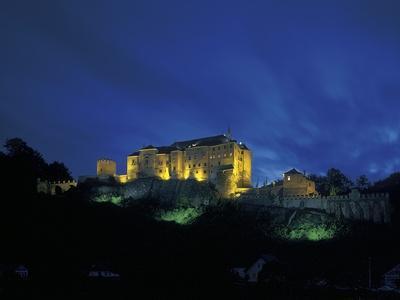 Cesky Sternberk Castle at Night, Czech Republic--Premium Photographic Print