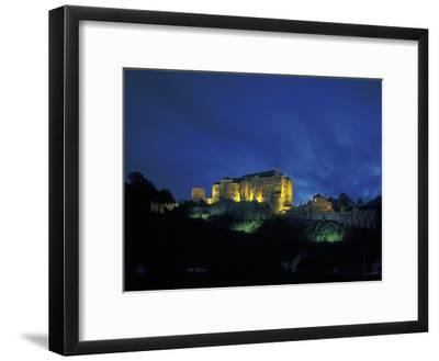 Cesky Sternberk Castle at Night, Czech Republic--Framed Photographic Print
