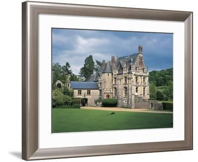 Lawn in Front of a Castle, Cleres, Normandy, France--Framed Photographic Print