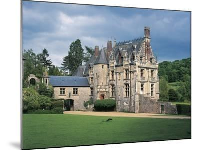Lawn in Front of a Castle, Cleres, Normandy, France--Mounted Photographic Print