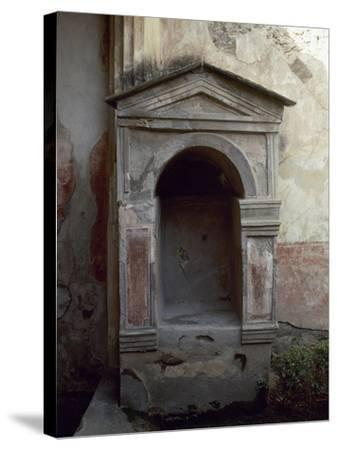 Italy, Pompeii, House of the Tragic Poet, Lararium--Stretched Canvas Print